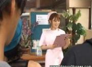 Asian nurse uniform handjob