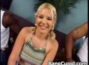Misty Parks gets nailed by two black cocks