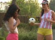 Girls playing outdoors
