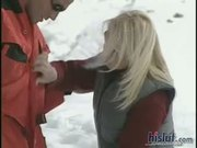 Gina Blonde was hot for her ski instructor