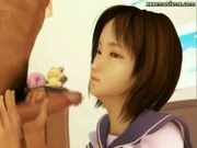 Asian animated cutie sucking a dick