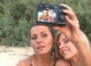 Horny lesbian girlfriends naked on beach