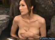 Beautiful busty Julia sucks cock