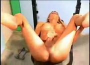 Large Chested Blonde Shemale Playing