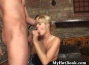 Ashley Blue likes to play with her slaves in her d