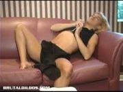 Jessy gets owned by massive dildo on sybian