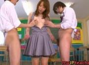 Eri Ouka Sweet Japanese teacher gangbang