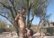 Handsome college boys fuck partner in zoo