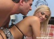 Hot Blonde Fucked On Her Ass And Had A Cream
