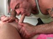 Blond hotty gets intense massage