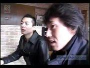 Asian hostess giving head bang