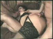Brunette Slut in Stockings Takes it in The Rear