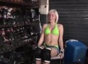blond exgirlfriend banged on a toilet
