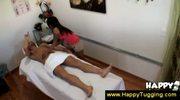 Tattooed asian masseuse asks extra money