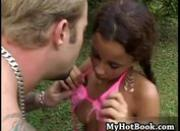 Dani Sol is a beautiful Latin teen whos outdoors