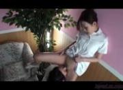 Asian Lesbian Massage Lotion Rubbing Scissoring