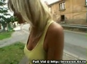 Blonde Public Titty Flash