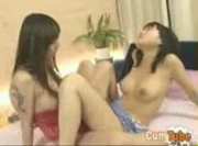 Hot Japanese Lesbians Scissoring Each Other