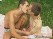 Outdoor sixtynine oral sex