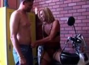 Gorgeous MILF in stockings gets shafted
