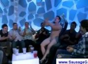 Male stripper stuffs homosexuals mouths