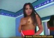 Latin Shemale & Hung Black Guy