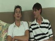 Sexy straight boys on sofa