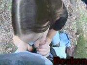 BJ in Woods Amateur sex video