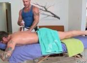 Guy gets ass fucked with glass toy