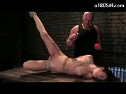 Slim Girl Tied Legs And Arms Pussy And Tongeu Clips Agonized With Hot Wax Pussy Mouth Fucked Cum To Mouth On A Desk In The Dungeon