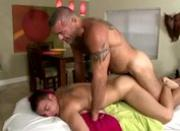 Dirty straight guy cums