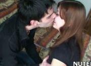 Cute girl kisses