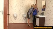 Two blonde ladies discover a black dick