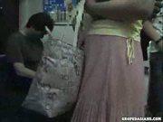 Tipsy Girl manhandled in Train