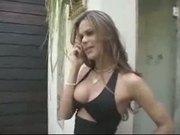 Tranny Grazi Fucks A Hot Blonde 1