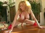 Blonde Tests Out Dildo - Nice Orgasm