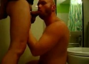 Deep Throating Bald Guy