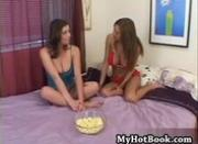 College girls Amy Reid and Sara Stone both have lo