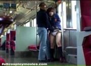 School Girl Train Blowjob