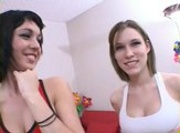 Threesome Allie Sin and Riley Mason