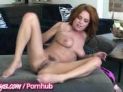 Two hot redhead masturbating