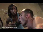 Natassia Dream dominates over tied boyfriend