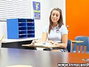 InnocentHigh Sexy schoolgirl Rilynn Rae classroom rammed