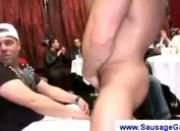 Gay stripper teases eager boys