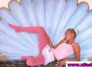 Teen model posing in nylons