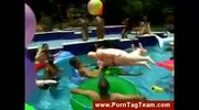 Pool orgy and naked horny bisexual girls