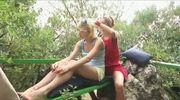 Lesbian Teenies masterbating in the forest