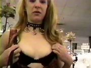 Chick exposes herself in Store