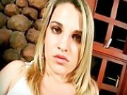 Lustful blonde whore is in interracial