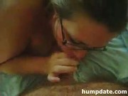 Busty wife sucks cock and gets defaced